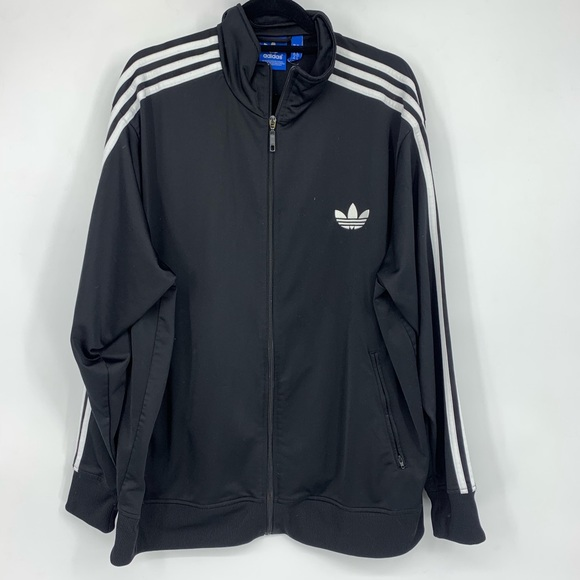 Vintage Adidas 3 Stripe Track Suit Jacket Mens Sz 2XL Full Zip Up Classical